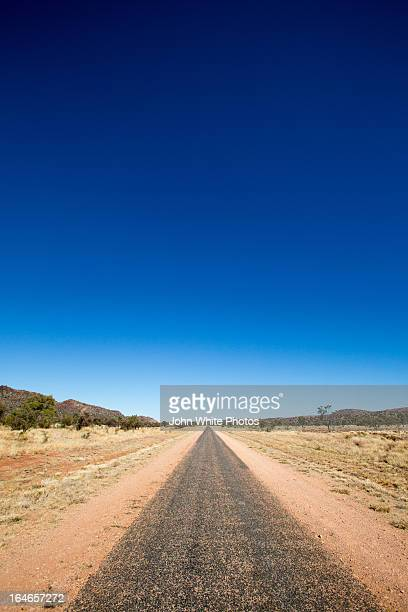 Outback road. Alice Springs. Northern Territory.