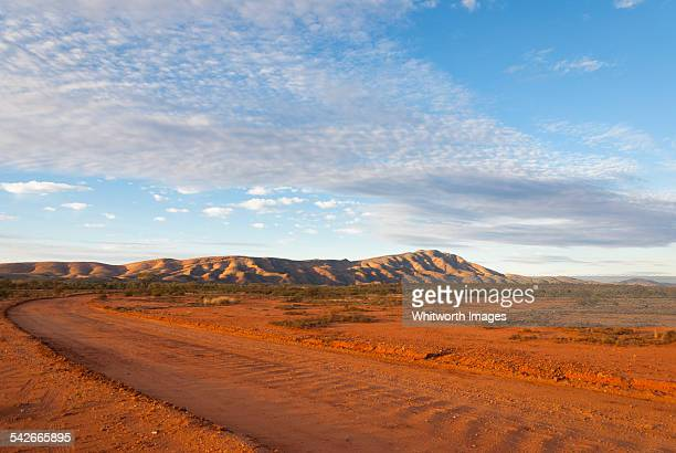 Outback road and Mt Sonder, central Australia