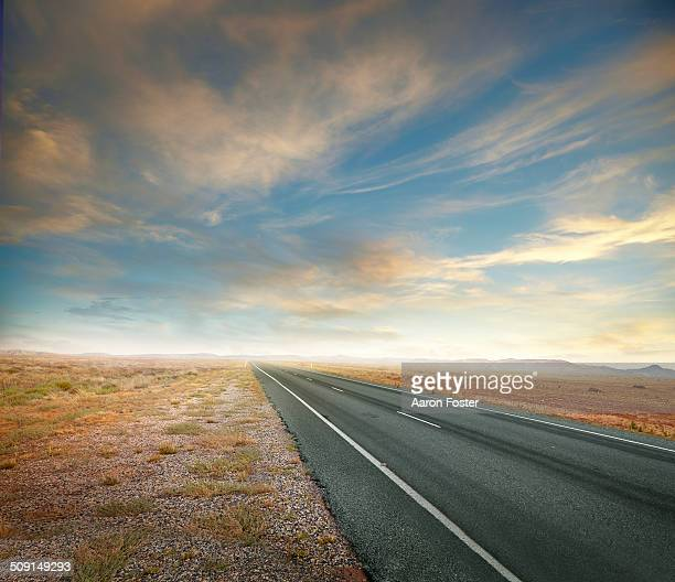 outback road - sunset stock pictures, royalty-free photos & images