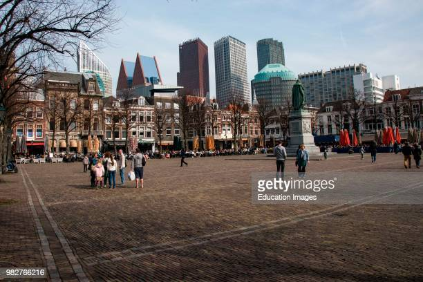 Outdoor activities in a square in The Hague, The Netherlands.