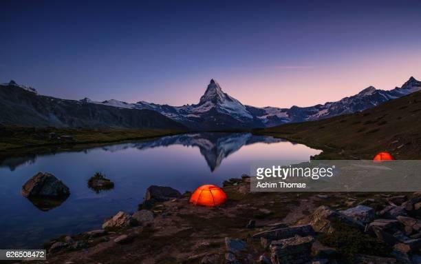 Outdoor adventure at Lake Stellisee, Zermatt, Switzerland