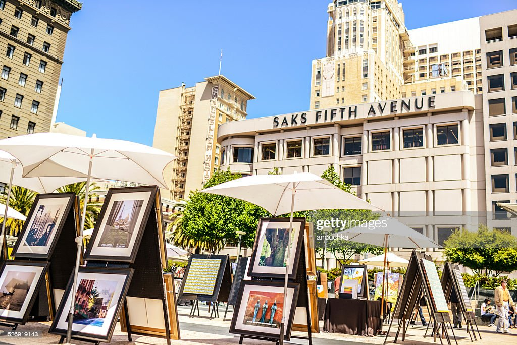 Outdoor Art Gallery on Union Square, San Francisco : Stock Photo