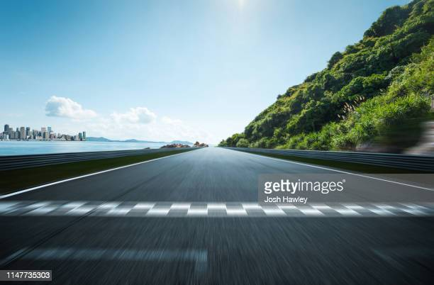 outdoor asphalt road - sports race stock pictures, royalty-free photos & images