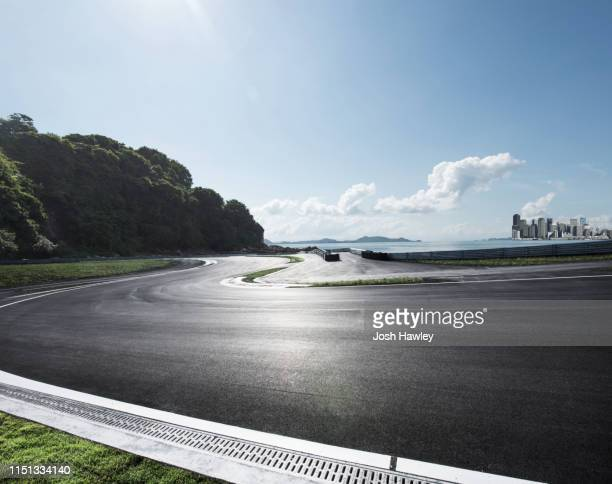 outdoor asphalt road - sports track stock pictures, royalty-free photos & images