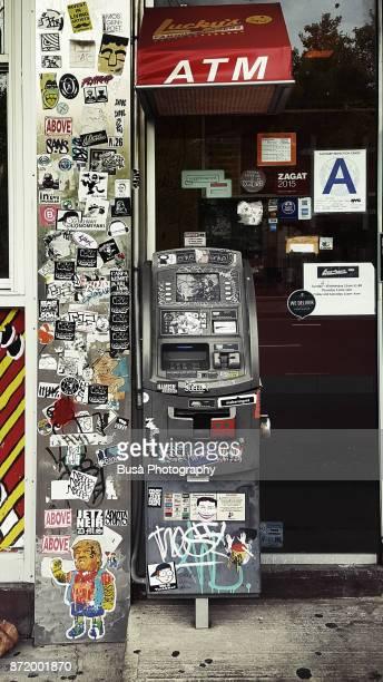 Outdoor ATM bank machine in Manhatttan, New York City