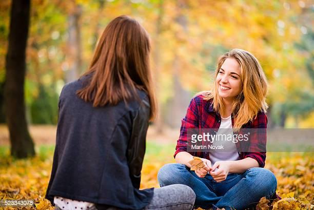 Outdoor autumn talk