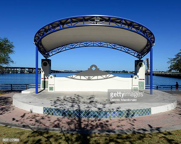 Outdoor band shell on the Riverwalk at Bradenton