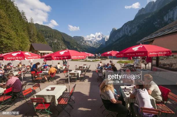 Outdoor cafe at  Lake Gosau See