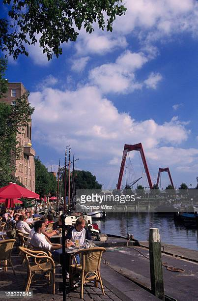 Outdoor cafe at the old harbor, Rotterdam