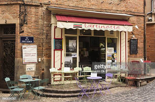 Outdoor cafe in Albi, France