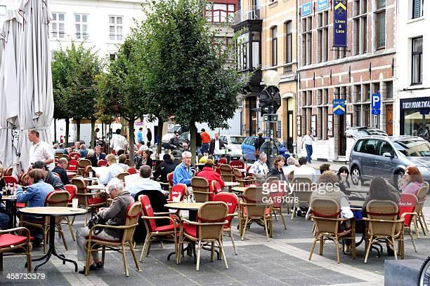 Outdoor cafe in Antwerp