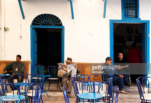 outdoor cafe in tunis, tunisia - tunis stock pictures, royalty-free photos & images