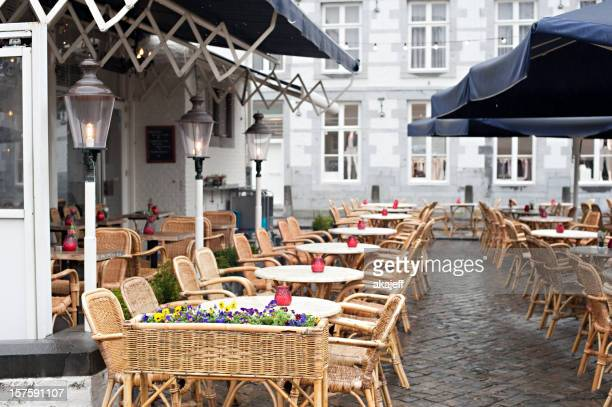 Café en plein air de Maastricht, Pays-Bas