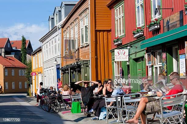 Outdoor cafe,Trondheim, Sor Trondelag, Norway