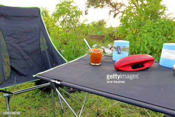 Outdoor camp table and chair