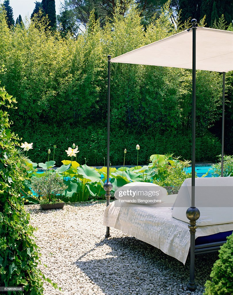 - Outdoor Canopy Bed High-Res Stock Photo - Getty Images