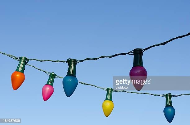 Outdoor coloured fairy lights