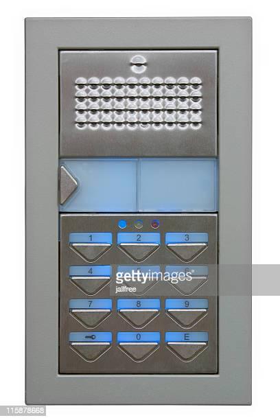 Outdoor digital door security access keypad with path