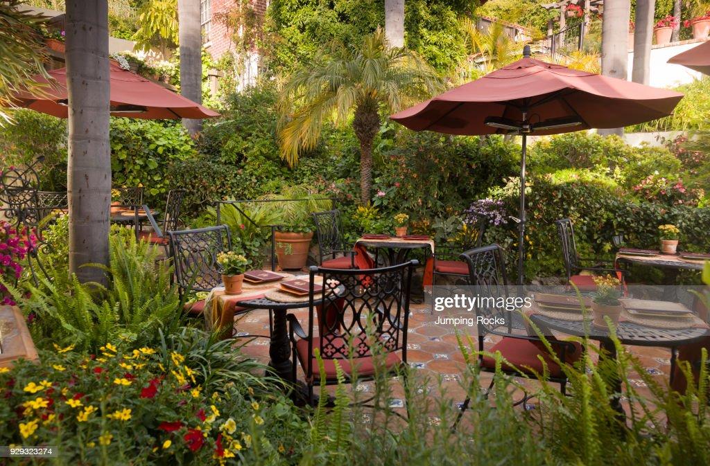 Outdoor Dining, Casa Laguna, Laguna Beach, California.