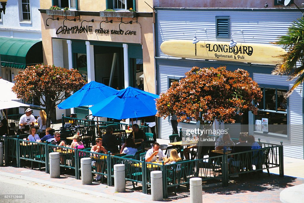 Outdoor Dining In Huntington Beach, California