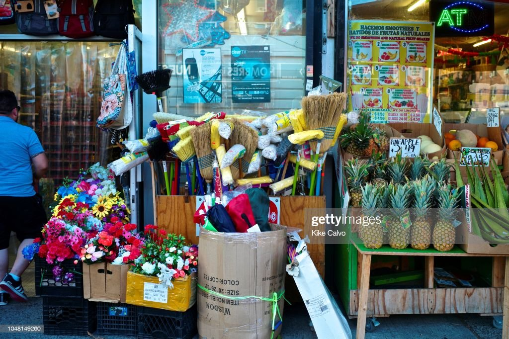 Outdoor display of items for sell at a store  News Photo - Getty Images