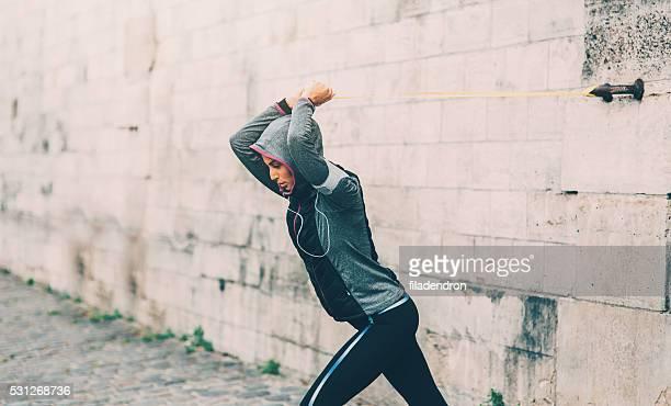 ao ar livre e academia de ginástica - flexibilidade - fotografias e filmes do acervo