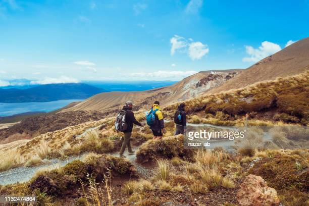 outdoor hiking. - new zealand stock pictures, royalty-free photos & images