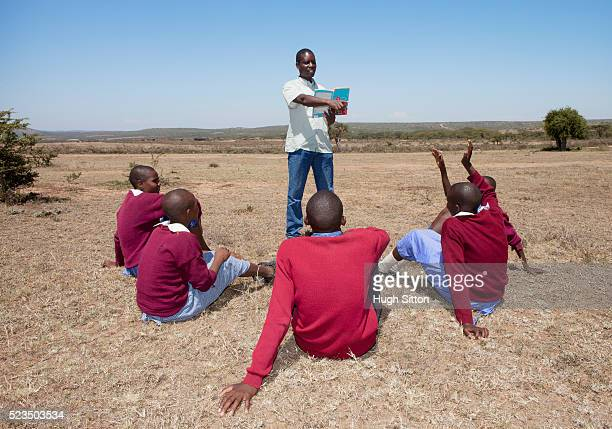 outdoor lesson - hugh sitton bildbanksfoton och bilder