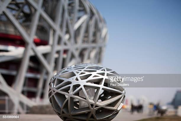 outdoor light fixture on sidewalk - stadio olimpico nazionale foto e immagini stock