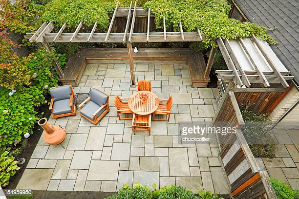 outdoor living - patio stock pictures, royalty-free photos & images
