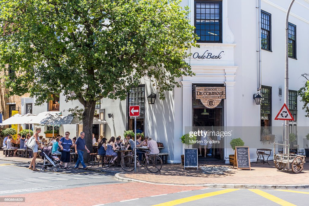 Outdoor lunch and coffee at De Companje : Stock Photo