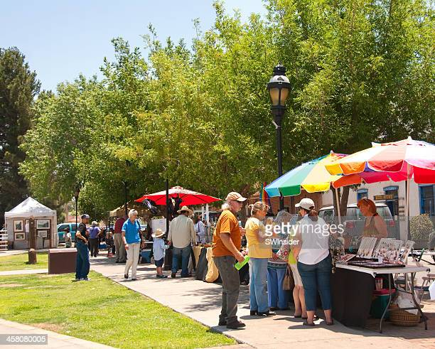 outdoor market at old mesilla, new mexico - las cruces new mexico stock pictures, royalty-free photos & images