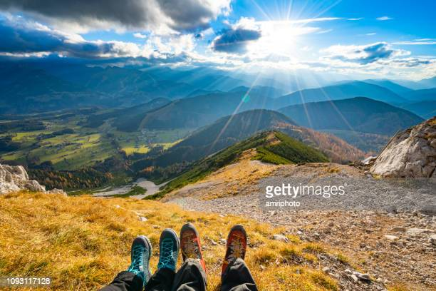 outdoor mountain eco tourism concept - ecoturismo foto e immagini stock
