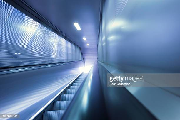 Outdoor moving walkway at business district