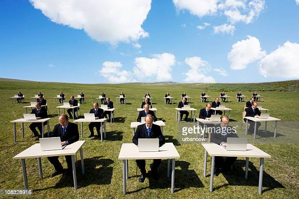outdoor office - cloning stock pictures, royalty-free photos & images