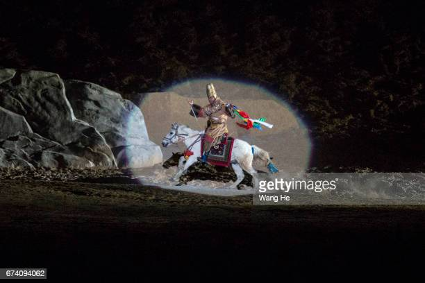 Outdoor opera 'Princess Wengcheng' is performed on April 272017 in LhasaTibet Autonomous Region China 'Princess Wengcheng' is a large scale outdoor...