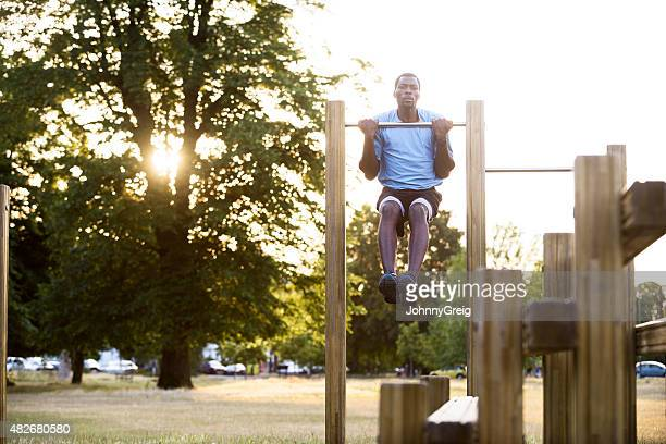 Outdoor park fitness gym pull-ups