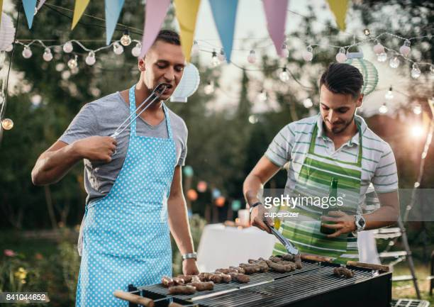 outdoor party - funny bbq stock pictures, royalty-free photos & images