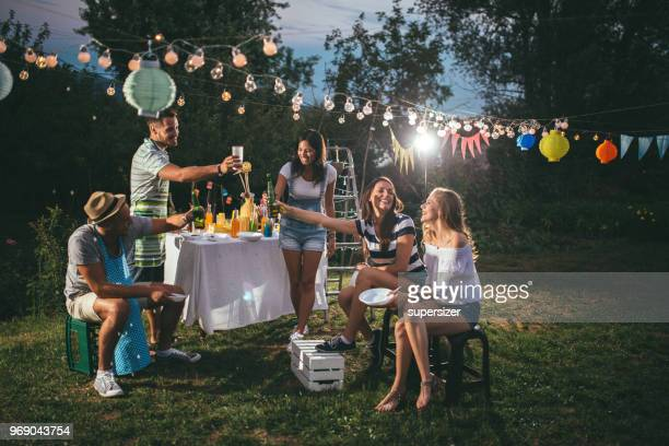 outdoor party - gras stock pictures, royalty-free photos & images