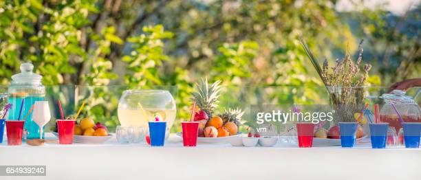 Mesa de fiesta al aire libre