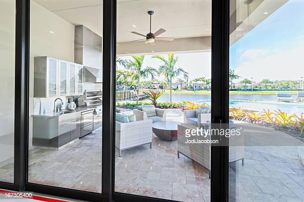 Outdoor patio kitchen luxury exterior