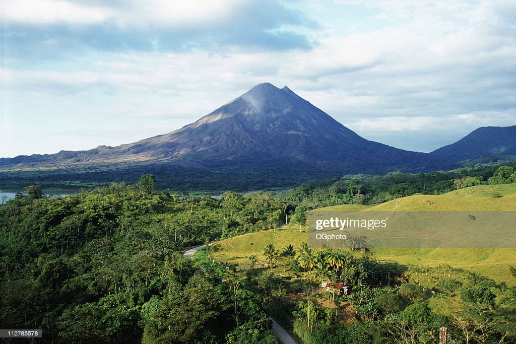 Outdoor photo with Arenal Volcano in Costa Rica : Stock Photo