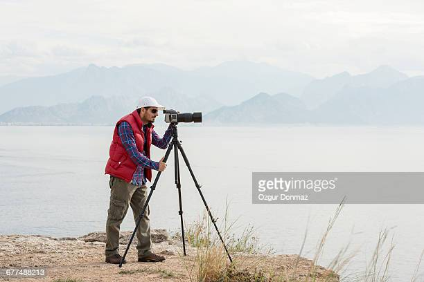 Outdoor photographer taking picture