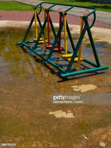 Outdoor Play Equipment At Wet Playground