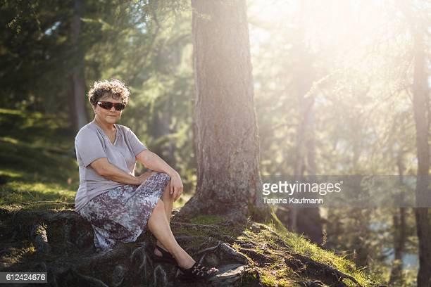 Outdoor Portrait of a senior Woman