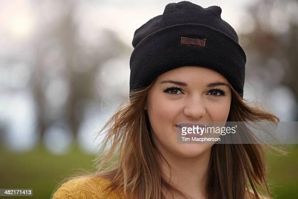 Outdoor portrait of a teenage girl