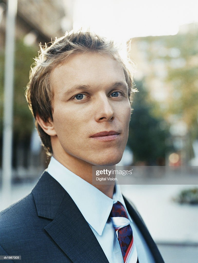 Outdoor Portrait of a Young Businessman : Stock Photo
