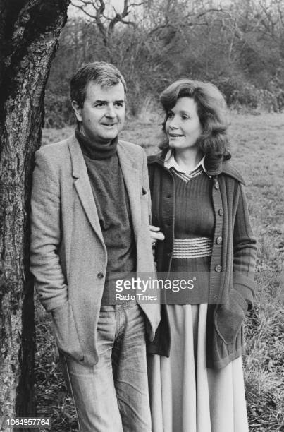 Outdoor portrait of actors Ann Bell and Rodney Bewes, photographed for Radio Times in connection with the BBC Radio 2 drama 'A Very Private Man',...