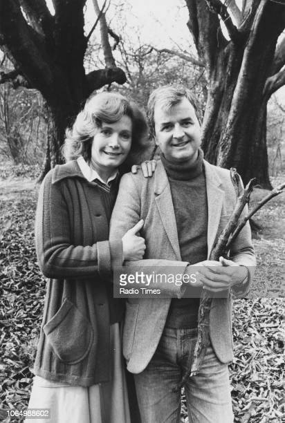 Outdoor portrait of actors Rodney Bewes and Ann Bell, photographed for Radio Times in connection with the BBC Radio 2 drama 'A Very Private Man',...