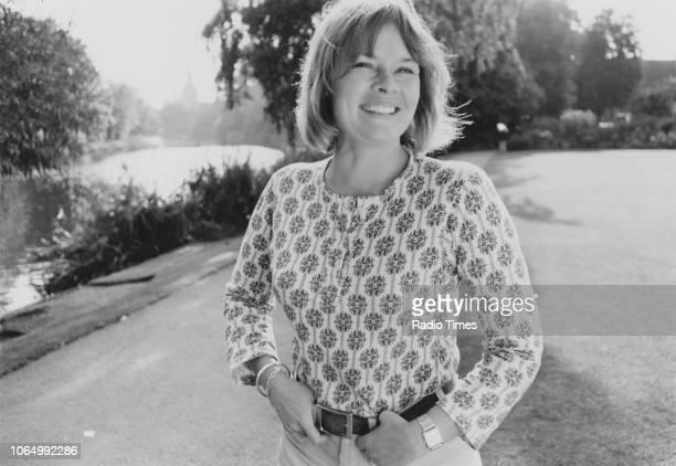 Outdoor portrait of actress Judi Dench October 1971